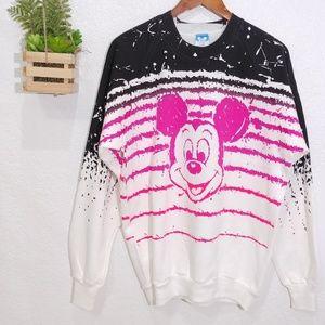 Vintage Disney character painted mickey sweatshirt